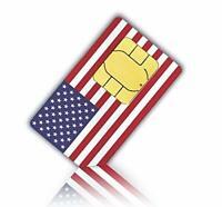 USA Urlaub SIM KARTE 4GB 4G Internet FLAT 4G LTE Amerika Prepaid 30 Tage FLAT