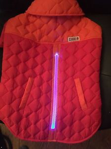 Kong Led THERMAL SAFETY JACKET For DOGS Lighted Dog Keeps Pets Safe Size M