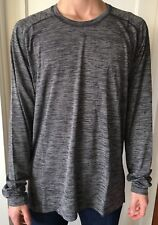 Lululemon Mens Size XL Metal Vent Tech Wool LS Long Sleeve Black White Pullover
