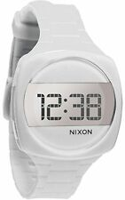 NEW Nixon A168-100 Womens Dash Watch Digital White One Size Silicone Strap WR
