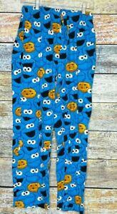 Sesame Street Cookie Monster flannel lounge sleep pants Pajama size Small 28-30