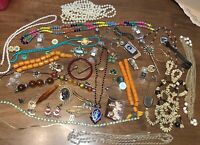 Vintage Antique Estate Junk Drawer Lot Misc Pinback Jewelry Bakelite Bottle Mix