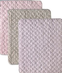 "NEW CoCaLo Pinwheel Quilted Comforter Pink/Purple/Gray 36"" x 45"""