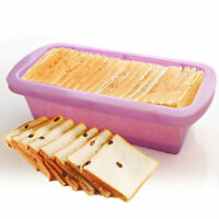 Silicone Rectangle Non Stick Bread Loaf Cake Mold Bakeware Baking Pan Mould YY