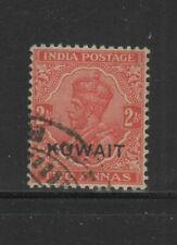 KUWAIT #23  1929  2a   KING GEORGE VI OVERPRINT   F-VF  USED  c