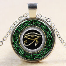Eye of Horus necklace 24 inch Chain silver pendant egyptian protection gift
