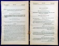 1906 RAILROAD Rate Legislation - Hepburn Act - Citizens Telegrams Response to Ac