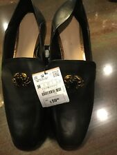 Zara Black Leather Flats Shoes Us Size 7 1/2