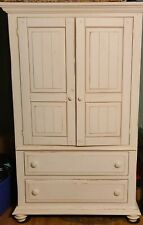 Armoire closet wardrobe wood with drawers