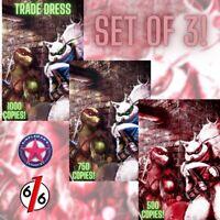 🚨🐢💥 TMNT #110 SET OF 3 VARIANTS Hal Laren Raphael #1 Homage Ltd 500 NM