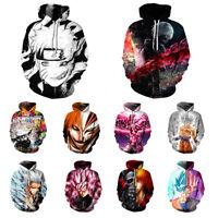 Anime 3D Print Casual Hoodie Sweatshirt Pullover Top Jacket Coat