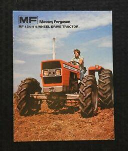 "1978 MASSEY-FERGUSON ""MF 184-4 4-WHEEL DRIVE TRACTOR"" CATALOG BROCHURE EXCELLENT"