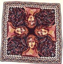 The Metropolitan Museum Of Art Greek Woman Mosaic Silk Scarf Scarves Red Blue
