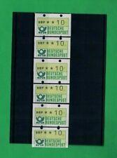 Abarten-Serie mit 6 grünen Marken vielfach übergroß postfrisch Nr. 1.1 Posthorn