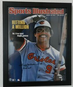 "August 30 1976 Reggie Jackson signed Sports Illustrated cover Framed 16"" X 20"""