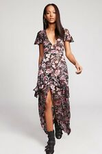 NEW For Love & Lemons Vivi Burnout Maxi Dress Size XS Ruffled Floral