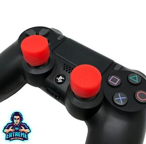RED Extenders Extreme Analog Thumb Stick Cover Grip Caps for PS4 Controller