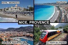 SOUVENIR FRIDGE MAGNET of NICE PROVENCE FRANCE