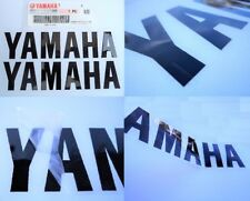 Yamaha GENUINE Large Fairing BLACK Stickers Decals 195mm x 45mm ****UK STOCK****