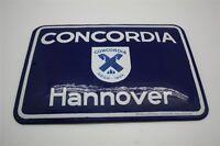 Concordia Seguro Hannover Cartel Esmaltado 14 X 20CM, Di.Alrededor De 1930