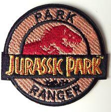 JURASSIC PARK RANGER ☆ DINOSAUR Iron On Patch / Badge Costume Fancy dress up