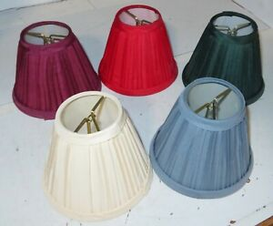 New YOU PICK COLOR Fabric Pleated Mini Chandelier Lamp Shade Room Traditional