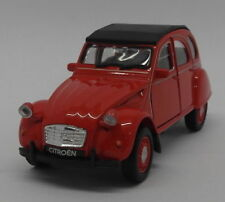 Citroen 2CV - Red - Kinsmart Pull Back & Go Diecast Metal Model Car