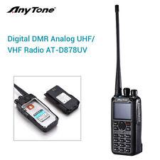 AnyTone AT-D878UV GPS Dual Band DMR And Analog VHF UHF Two Way Radio w/ Antenna