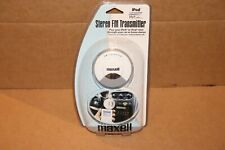 Maxell Stereo FM Transmitter For ipod and other Portable Players New Sealed