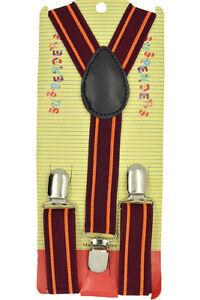 CUTE Baby Toddler Kids Children Boys & Girls Stripe Y-Back Elastic Suspenders 25