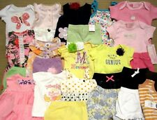 Baby Girl 6, 9, 6-12 Month Clothes Lot Tops Pants Dress 4pc NWT Spring Summer