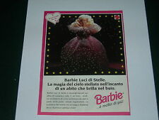 Advertising Italian Pubblicità: BARBIE LUCI DI STELLE