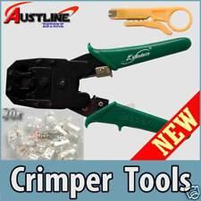 Network Crimper Crimp Tool 4 RJ-45 /12 Cable +20Plugs