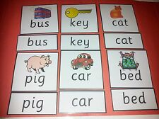 FIRST WORD RECOGNITION FLASH CARDS -3 LETTER WORDS- READ /SPELLING/ LETTERS EYFS