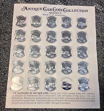 SUNOCO Antique Car Coin Collection Series 2 Franklin Mint 1968 token (24 COINS)