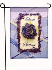 Spring Scrapbook Welcome Spring Mini Decorative Flag