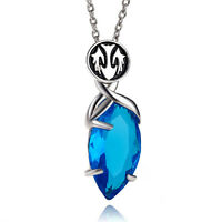 New Style Final Fantasy X/X-2 Yuna's Pendant Blue Magic Crystal Necklace