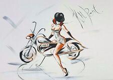 'Little Black Hat Nude with Triumph' Original Painting  by Kat Herrgott- Penter