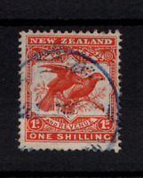 New Zealand 1908 1/- SG385 Perf 14 & 15 fine used WS22316