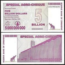ZIMBABWE 5 Billion Dollars 2008 UNC P 61