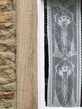 "Rennie Mackintosh 160"" 4m long sidelight panel Scottish Cream cotton lace"