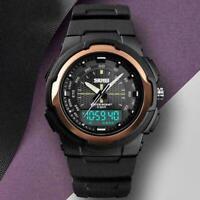 SKMEI Analog Digital Herren Armband Uhr Chronograph Uhren wasserdichte Dual B3A0