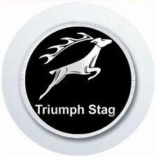 Triumph Stag Logo Noir Porte Vignette Auto Réutilisable Permis de Parking