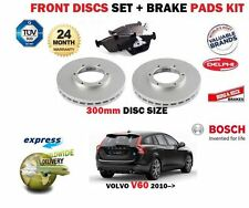 FOR VOLVO V60 2010--> NEW 16'' WHEELS FRONT BRAKE DISCS SET + DISC PADS KIT