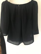 Semi Sheer Top Black Size 10