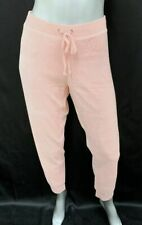 JUICY COUTURE BLACK LABEL NWT Zuma Light Pink Velour Track Joggers Pants sz XL