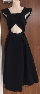 SELF-PORTRAIT Ayelette Off-The-Shoulder Crepe Dress - Black - UK 10/US 6