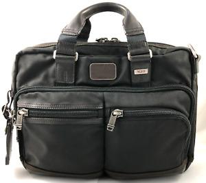 Tumi Alpha Bravo Andersen Slim Briefcase Laptop Bag Ballistic Nylon 222640