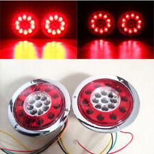 2pcs 4,3''19 LED Auto-Anhängerbremse Bremslicht Rücklicht Chromring Signallicht