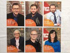ZDF Bares für Rares Autogrammkarten 6 original signierte AK Autogramme
